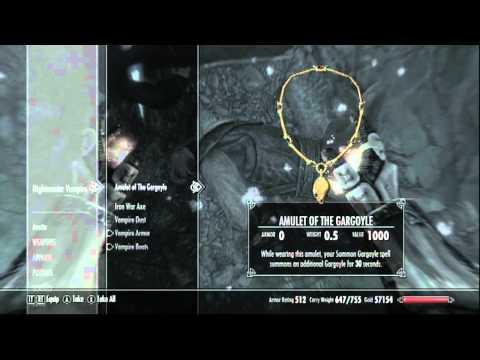 Skyrim DLC: Amulets of Night Power