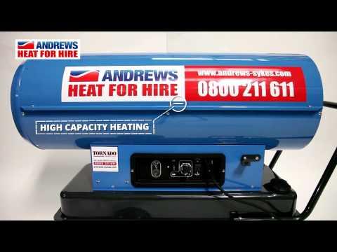 Tornado direct fired oil heater