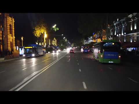 Tbilisi Night | Virtual Tour | 【4K】Driving Dowtown