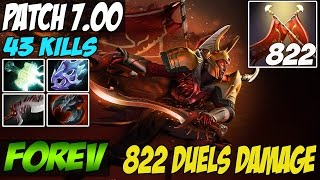 Patch 7.00 FoREv 8k MMR PLays Legion Commander WITH 822 DAMAGE DUEL