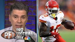 Plenty of smoke around Chiefs trading Tyreek Hill | Pro Football Talk | NBC Sports
