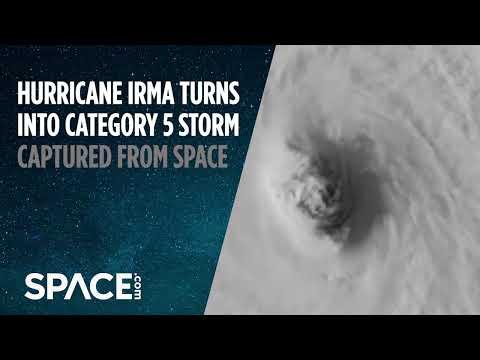 Ураган «Ирма» усилился до высшей категории, взгляд из космоса