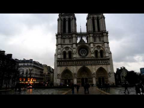 A view of the Notre Dame Cathedral - Paris, FRANCE