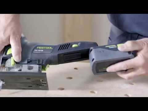 Видео Лобзик маятниковый Festool CARVEX PSC 420 EB Li 18-Basic