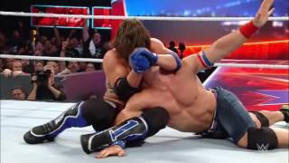 AJ Styles vs John Cena Summerslam 2016 Highlights HD