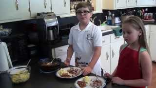 Cooking With Kade makes Country Style Pork Ribs and Baked Beans on the Cajun TV Network