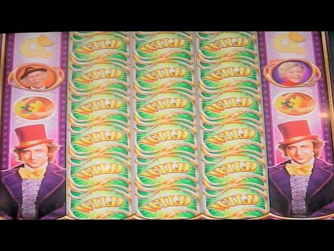 Willy Wonka CHOCOLATE RIVER BONUS & OOMPA LOOMPA FEATURE Las Vegas Casino Slot Machine
