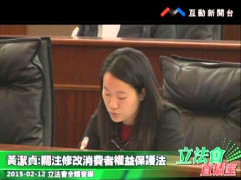 黃潔貞  20150212立法會全體會議
