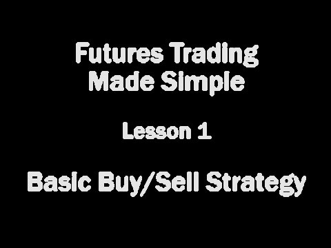 Futures Trading Made Simple – Lesson 1 – Basic Buy/Sell Strategy