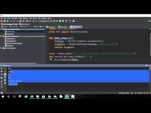 Introduction To Web Scraping (Python) - Lesson 02 (Scrape Tables)