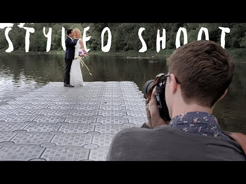 How to build a wedding photography portfolio (Styled Shoot Wedding Behind the scenes vlog) (видео)