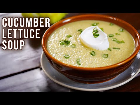 Cucumber Lettuce Vichyssoise Soup | How to Make Vichyssoise | Cold Soup Recipe | Varun