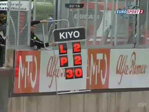kiyonari drift durante la qualifica di donington