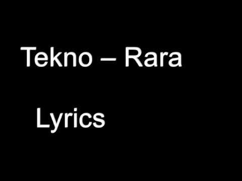 Tekno – Rara Lyrics