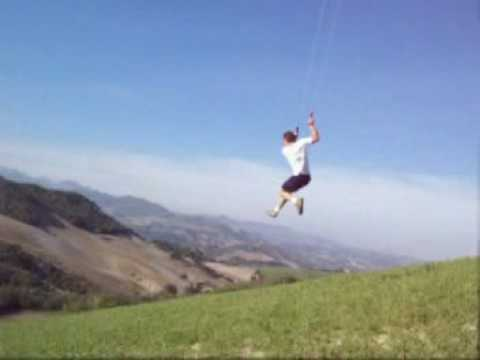 kite - Jumping with my KITE!!! (part 2) this kite is produced in Italy. dimension: linear meter = 5 square meters = 5 have fun! (I sell in order to pass to more lar...