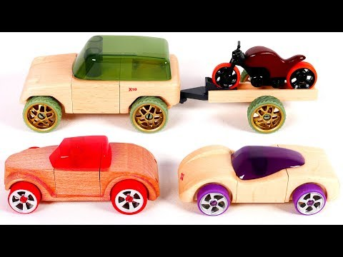 Learn Colors with Building Vehicles Playset for Kids
