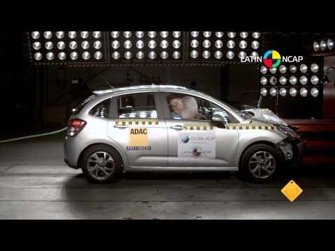 Citroën C3 comprova sua segurança no Latin NCAP