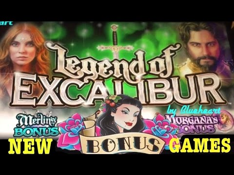 ★PLAYING MULTIMEDIA EVERI GAMES★ TATTOO slot and  LEGEND of EXCALIBUR slot machine BONUS WINS!