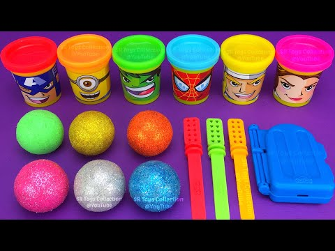 Making 3 Ice Cream out of Play Doh PJ Masks Zuru 5 Surprise Toys Chupa Chups Yowie Kinder Joy