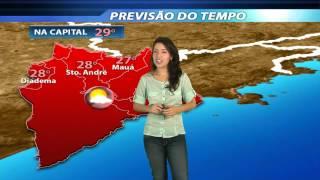 Fique por dentro da previsão do tempo para os próximos dias em São Paulo e para o Grande ABC com a jornalista Aline...