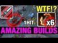 JUST 1 HIT DAGGER -  6 BATTLEFURY Phantom Assassin - AMAZING BUILDS - Dota 2