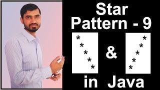 Star Pattern - 9 Program (Logic) in Java by Deepak