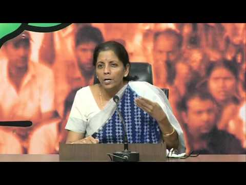 Congress misled the country by filing 2 affidavits on the same matter of Ishrat Jahan: N Sitharaman