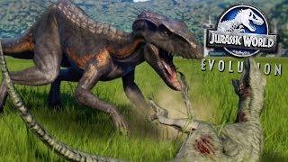 INDORAPTOR KILLING SPREE! - ALL NEW DLC DINOSAURS! - Jurassic World Evolution