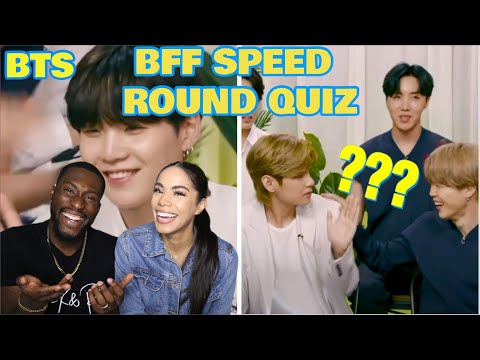 BTS Plays the BFF Speed Round| REACTION|
