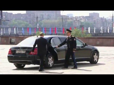 Cum circula Putin cu masina (video)