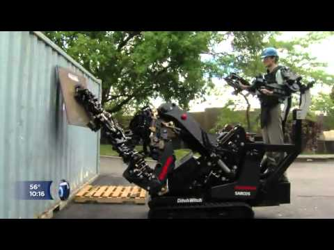 Modified - KSL News 5 coverage of Raytheon Sarcos modified Ditch Witch.