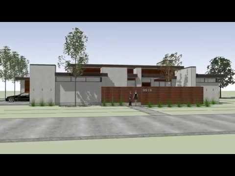 Greico Modern Homes Dallas – Crestline Design Build Project –  Exterior Material Study