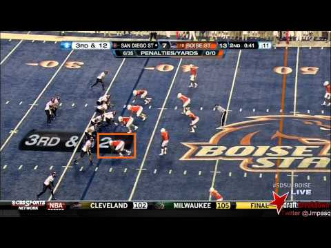 Demarcus Lawrence vs San Diego St. 2012 video.