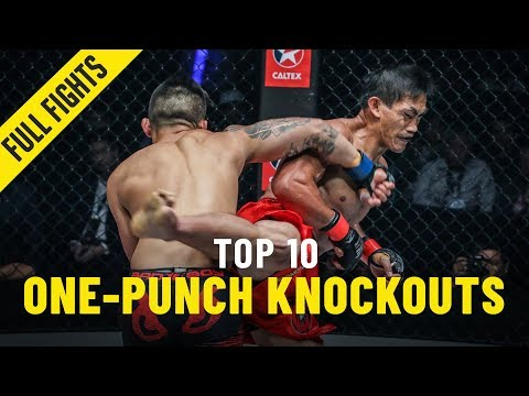 Top 10 One-Punch Knockouts | ONE Full Fights
