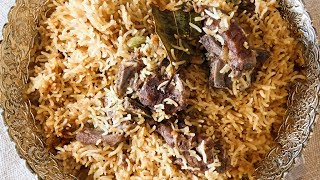 Learn How To Make Mutton Yakhni Pulao Recipe, a Kashmiri Style Mutton Pulao Recipe from Chef Smita Deo only on Get Curried. Make this delicious, Yakhni Pulao, Mutton Recipe at your home and share your experience with us in the comments section below.Ingredients:-For the Mutton:-1 kg mutton1 onion, roughly chopped2-inch ginger, chopped12 cloves of garlic chopped2 bay leaves5 green cardamoms2-inch cinnamon stick10 cloves For the Pulao:-5 tbsp. Ghee2 bay leaves7 cloves3-inch cinnamon5 green cardamoms8 onions, sliced2 tbsp. ginger and garlic paste each½ nutmeg grated1 tsp. Cinnamon powder4 cups of basmati rice8 cups of mutton stockSalt to tasteMethod:-1. Tie up the onion and the rest of the spices in a potli and cook it with the mutton in 1 litre of water.2. Heat a vessel and melt ghee and add the whole spices.3. Add the onions and fry till the onions turn golden.4. Add the ginger and garlic paste and saute further.5. Add the nutmeg and cinnamon powder and then add the rice and sauté for a minute and then add the boiled mutton and mix well.6. Add the mutton stock and cover and cook for 15-20 min on low flame till the rice is done. Use a heavy lid to cover the vessel to prevent the steam from escapingYakhni Pulao is ready to serve!HAPPY COOKING!!!Host: Smita DeoDirector: Narayan ThakurCamera: Kavaldeep Singh Jangwal, Pratik Gamre, Akshay Sawant, Spandan RoutEditing: Kishor RaiProducer: Rajjat A. BarjatyaCopyrights: Rajshri Entertainment Pvt LtdSubscribe and Get regular Updates: http://www.youtube.com/user/getcurried?sub_confirmation=1https://www.facebook.com/GetCurriedhttps://plus.google.com/+getcurriedhttps://twitter.com/Get_Curriedhttps://instagram.com/getcurried