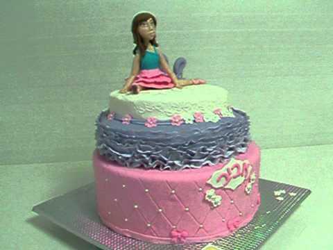 עוגת בר מצווה - עוגה מפוסלת מבצק סוכר ע