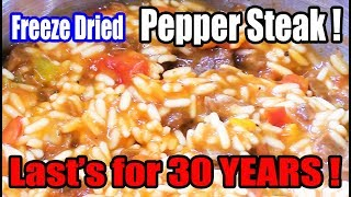 Mountain House Freeze Dried Pepper Steak Lasts 30 YEARS! - WHAT ARE WE EATING?? - The Wolfe Pit