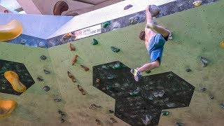 Dynos And Climbing At The Blockhelden Gym by Matt Groom