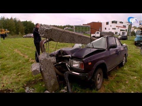 Водитель «Жигулей» чудом выжил в ДТП на выезде из областного центра