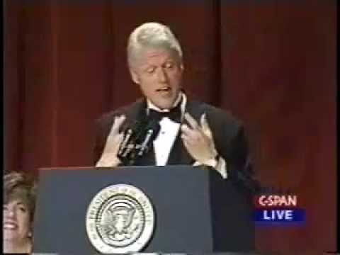Bill Clinton Bids Farwell at 2000 White House Correspondents Dinner