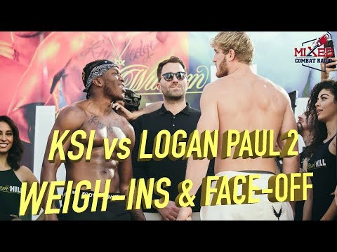 KSI vs Logan Paul 2 Weigh-Ins and Face-Off