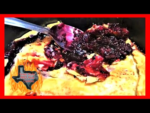 Dutch Oven Blackberry Cobbler Recipe With Homemade Ice Cream