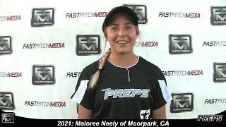 2021 Maloree Neely Pitcher and Outfield Softball Skills Video - Easton Preps