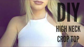 DIY | Ribbed High Neck Crop Top (Under $3!)