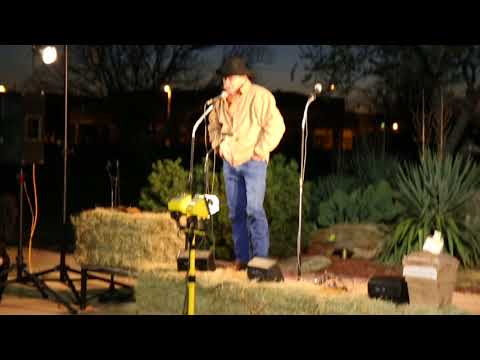 Cowboy poet Don Williams at the Chisholm Trail Heritage Center in Duncan, OK