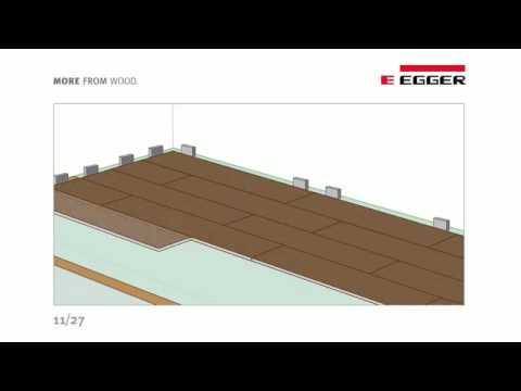 Egger укладка ламината с системой Pro Clic