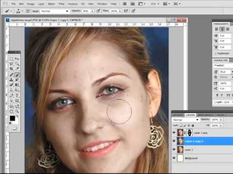 Коррекция кожи лица в фотошопе