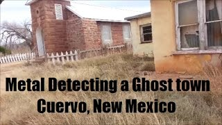 """I was so happy to find a relic from World War 1 here! When I was driving from California to Ohio, I passed Cuervo, New Mexcio, near Tucumcari, New Mexico on the I-40. I saw some people walking around the ruins and immediately knew I wanted to return to see this place! On my way back from Ohio, I stopped for one hour to see what I could find. Mind you, I searched online for any New Mexico laws forbidding metal detecting in Ghost towns, specifically Cuervo. I found nothing forbidding me to 1) Be on the property, and 2) to metal detect there. There were some buildings in Cuervo that had """"No Trespassing"""" signs, but the buildings I went to did not have them. While I really hoped I'd find something silver or at least a wheat penny or 2, I was surprised and elated to find a World War 1 button about 6 to 8 inches deep in the dark red dirt. What a great trip! Yay!"""