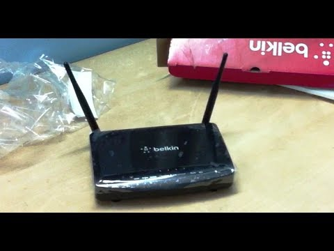 Belkin N300  Wireless N Modem Router ADSL2+ Black Unboxing (INDIA)