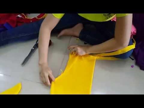 Cách làm áo croptop tua rua từ áo thun trơn